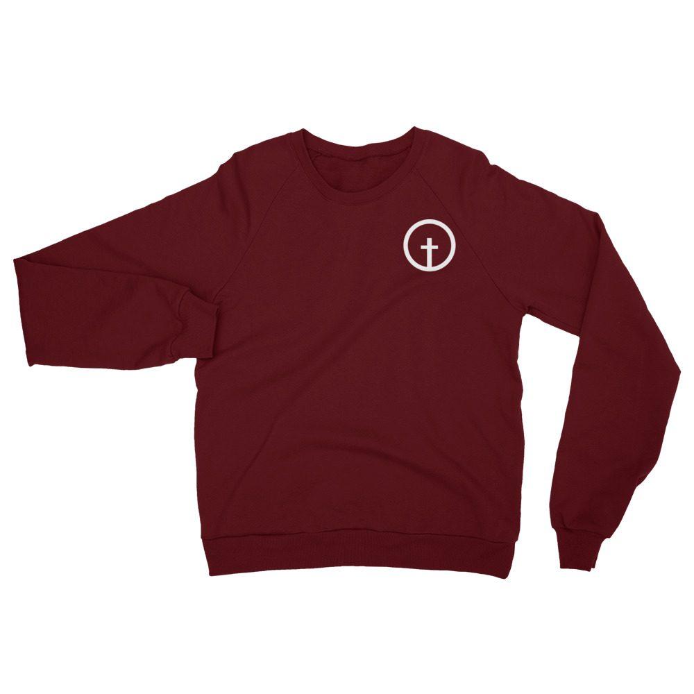 Unisex Fleece Sweatshirt Maroon