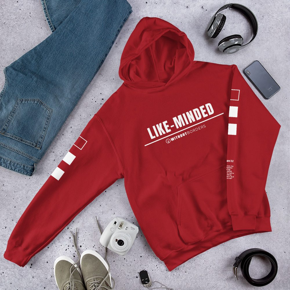 Like-Minded Red Hoodie